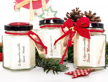 Winterduft 3-er Set im Country House Jar small. Sweet Woods, Sweet Molasses und Mulberry.